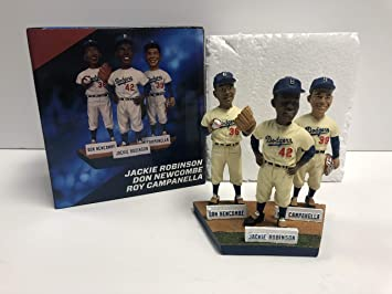 Jackie Robinson Roy Campanella Don Newcombe Brooklyn Dodgers Statue Figure Figurine Stadium Promo SGA