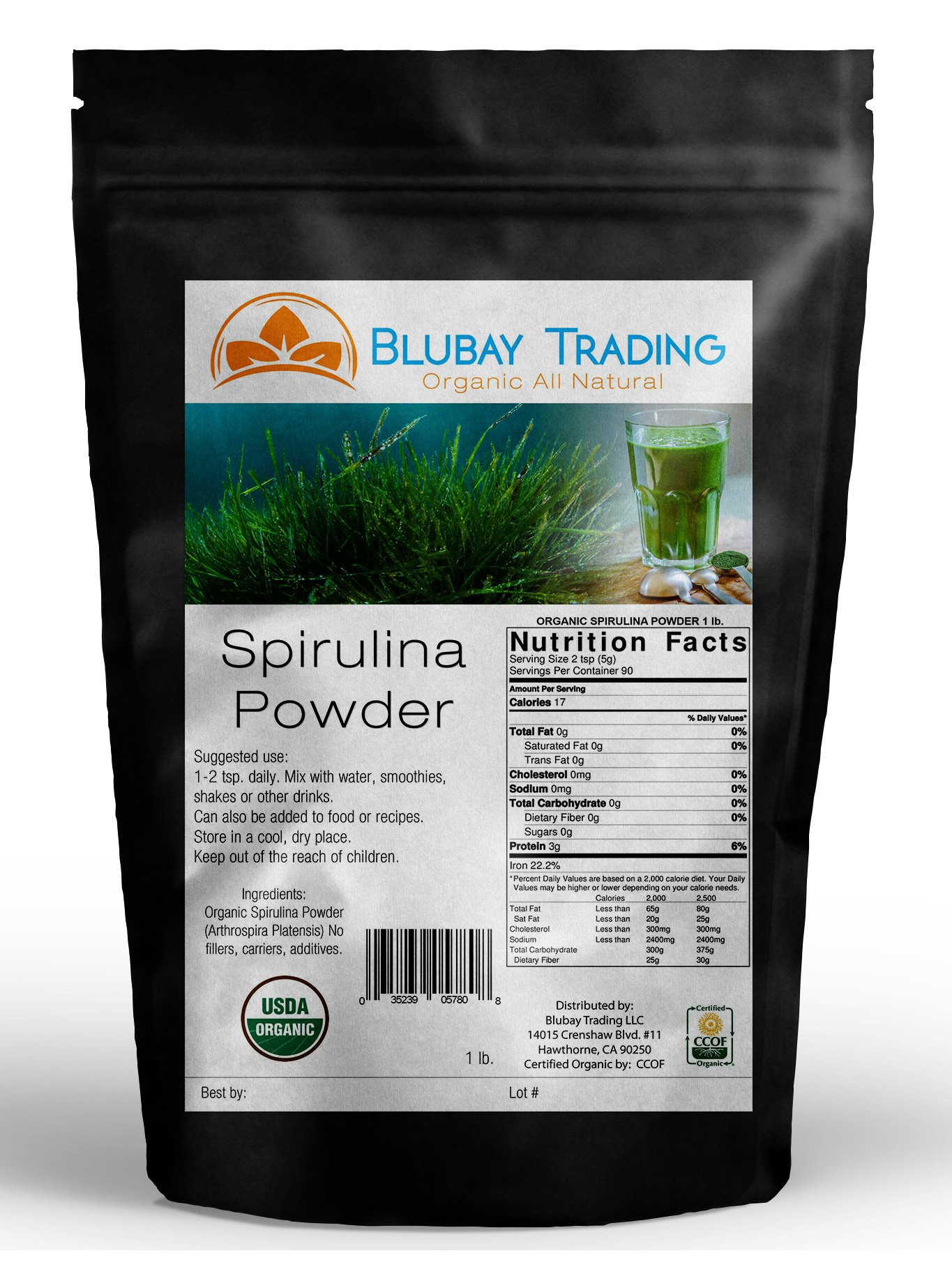 5 lb ORGANIC SPIRULINA POWDER 100% PURE NON-GMO ~ WHOLESALE ENERGY WEIGHT LOSS