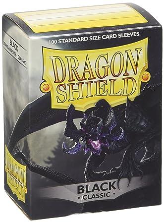 Arcane Tinmen 10002 Dragon Shield - Fundas Protectoras para Cartas coleccionables (100 Unidades), Color Negro