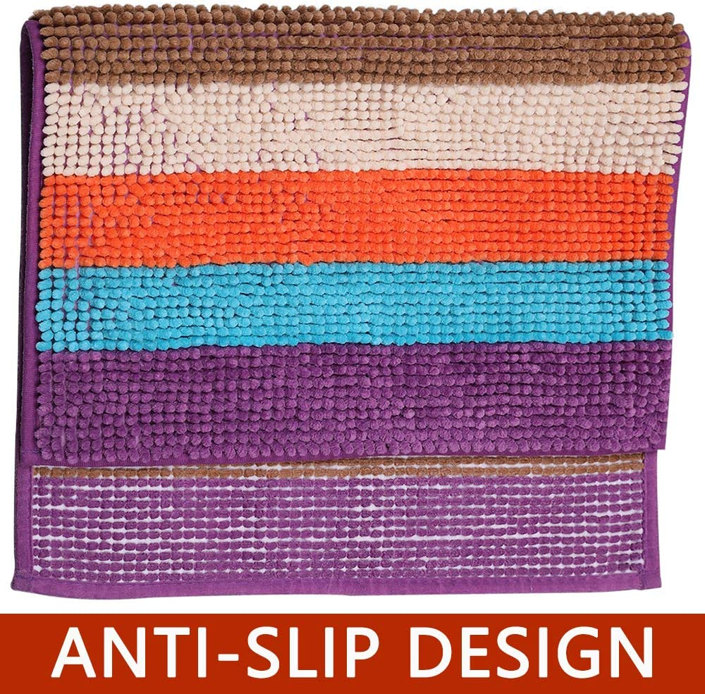 Blue Non Slip and Machine-Washable Bath Carpet for Bath Room Bathroom Rug 32/×20,Haod Extra Soft Absorbent Bath Mat