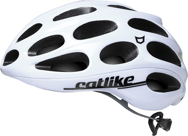 Catlike Olula Casco de Ciclismo, Unisex Adulto, Blanco, S/54-56 cm ...