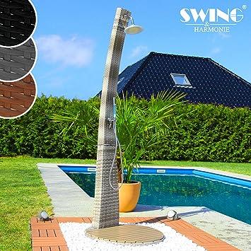 Swing Harmonie Polyrattan Dusche Mit Led Bleuchtung Und