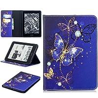 Amazon Kindle Voyage etui, SATURCASE piękny wzór skóra PU otwierany portfel stojak przegródki na karty ochronne…