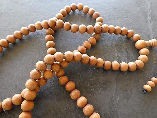 Necklace Prayer Beads 8.5-mm Beads 0128 Bracelet Nagar Chand Sandalwood Mala