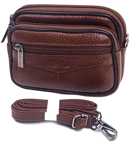 best loved 6c749 2ae66 Small Bag Waist Pack Messenger Bags Tactical iPhone SE Pouch Bum Leather  Travel Bags Cases Holsters Saddlebag (H11 Brown)