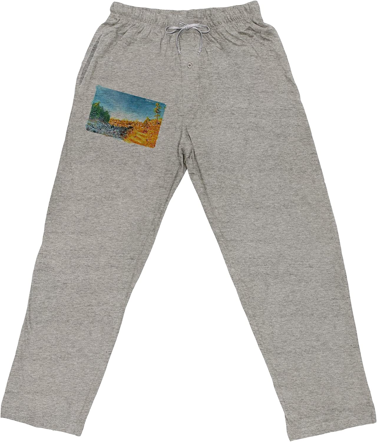 TooLoud Castlewood Canyon Watercolor Adult Loose Fit Lounge Pants