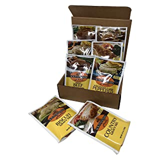 Southeastern Mills Family Size Gravy Mix Variety Bundle - Roast Beef, Roast Turkey, Roast Pork, Roast Chicken, Peppered, Peppered with Sausage Flavor, Country, and Biscuit Gravy Mix.