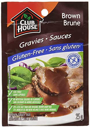 Club House, Dry SauceSeasoningMarinade Mix, Brown Gravy, Gluten Free, 25g
