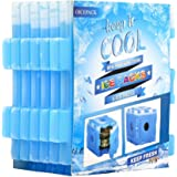 OICEPACK Ice Packs (set of 6),Cool Pack for Lunch Box,Freezer Packs for Lunch Bags and Coolers,Ice Pack Slim Reusable,Long-Lasting Freezer Ice Packs,Ice Packs-Great for Coolers,Ice Cube Blue