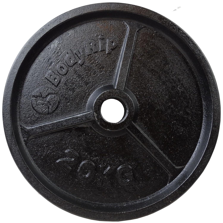 Juego de pesas de clásico Bodyrip 100 kg incluyendo 152,4 cm para pesas y pesos: Amazon.es: Deportes y aire libre