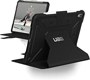 Urban Armor Gear UAG Folio iPad Pro 11-inch (1st Gen, 2018) Metropolis Feather-Light Rugged [Black] Military Drop Tested iPad Case with Apple Pencil Holder