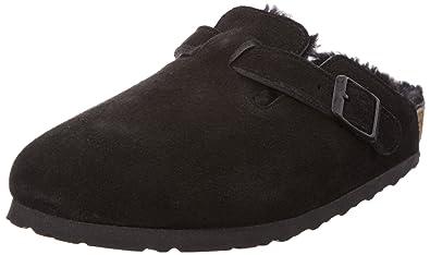 Birkenstock Boston Sheepskin Vl, Women's Clogs, Black (BlackBlack), 2