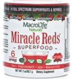 MacroLife Naturals Miracle Reds Superfood Containing Concentrated Polyphenols & Heart Friendly Plant Sterols - 2 ounce