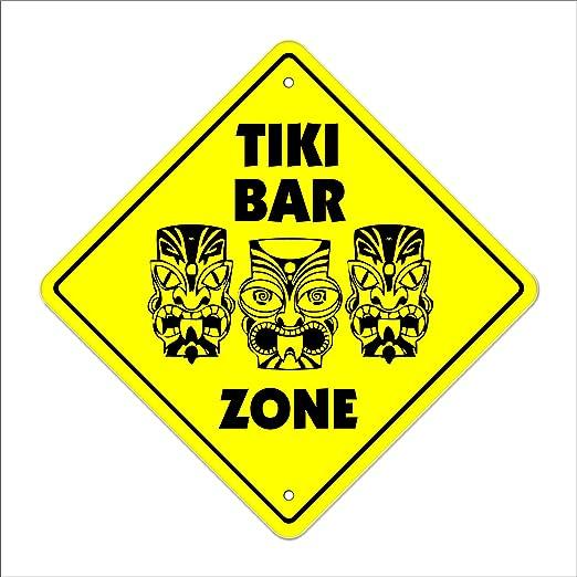 Tiki Bar - Letrero de cruce, zona Xing, interior / exterior ...