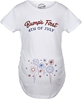 63d1cdb4b44a6 Crazy Dog T-Shirts Maternity Bumps First 4th of July Pregnancy Tshirt Funny  Patriotic Tee