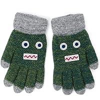 Flammi Kids Winter Knit Gloves Cartoon Robot Full Finger Gloves