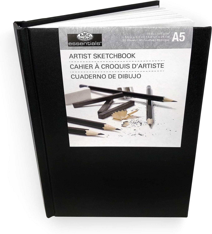 110gsm 80 Sheets Royal and Langnickel Essentials Hardback A5 Artist Sketchbook