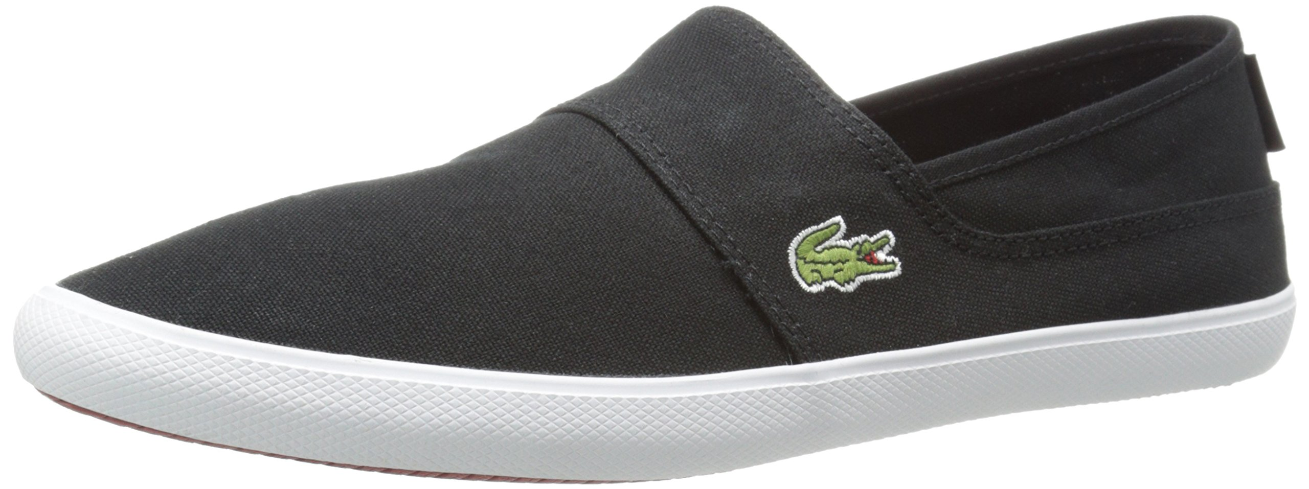 Lacoste Men's BL Canvas Loafer, Black/Black, 10 M US by Lacoste
