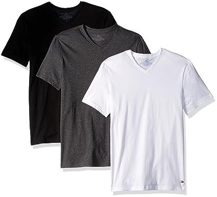 Amazon.com: Tommy Hilfiger Men's Undershirts 3 Pack Cotton Classics V-Neck  T-Shirts: Clothing