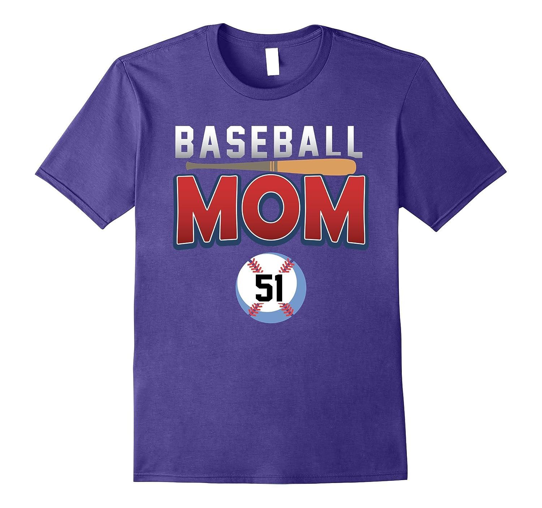Baseball Mom Player Number 51 Shirt-PL