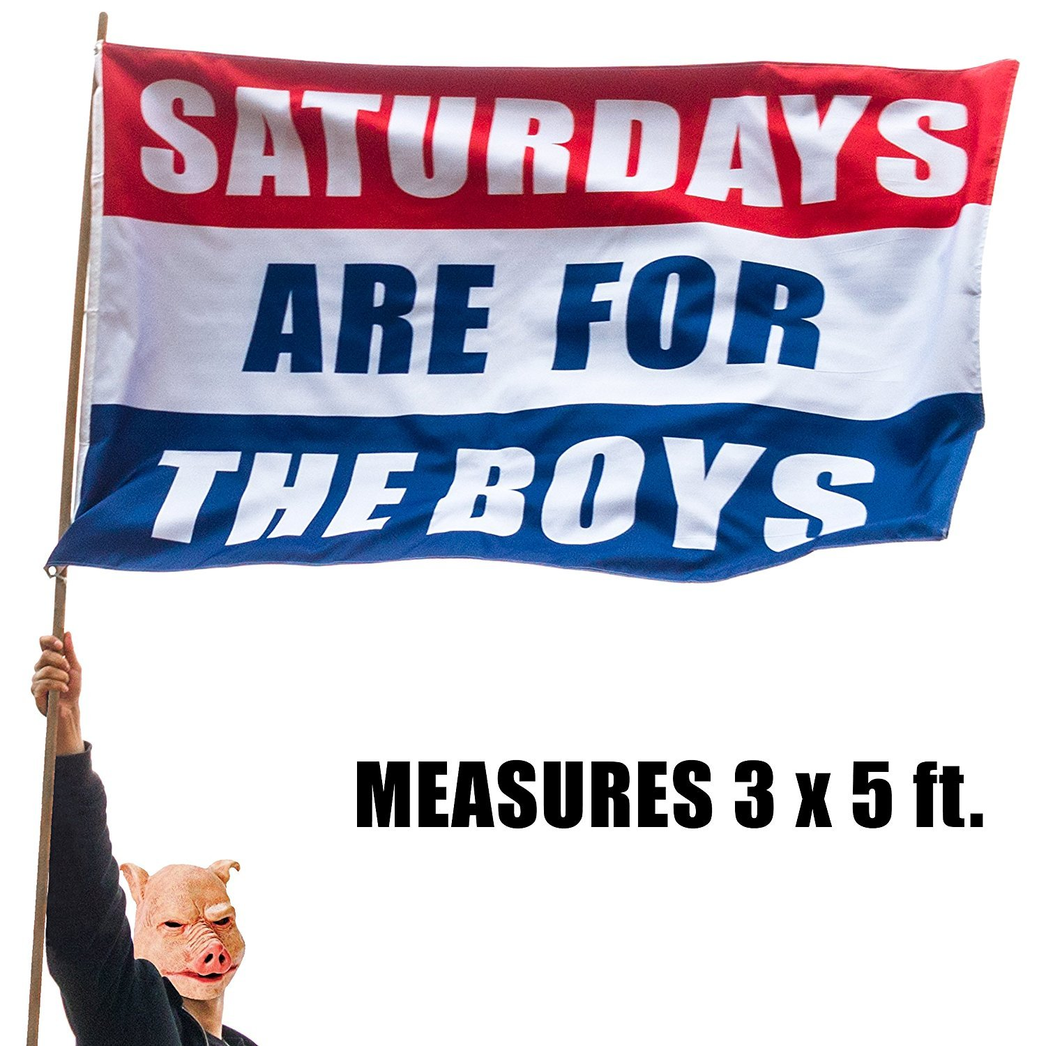 Amazon Saturdays Are For The Boys Flag 3x5 foot DOUBLE SIDED