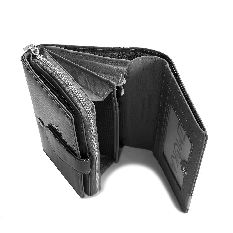 46dbcd04fae97 Damengeldbörse von Jennifer Jones - Lang Format feine Leder croco-snake  Optik Damengeldbeutel Portemonnaie Damenbörse Wallet ( Grau ) - präsentiert  von ...
