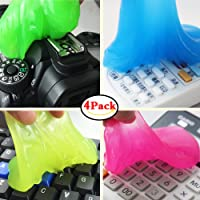 Family-Baby 4Pcs Magic Keyboard Cleaner Gel Sticky Jelly Desktop Laptop Computer Dust Remover Flexible Soft Glue