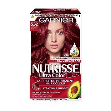 Garnier Nutrisse 5 62 Vibrant Red Permanent Hair Dye Amazon Co Uk