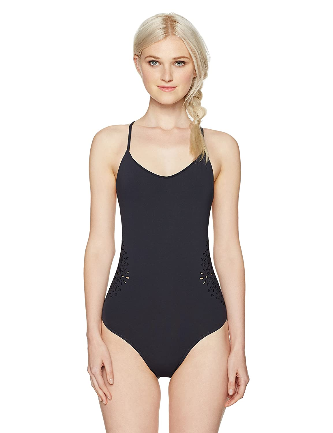 Billabong Women's Embroidered and Laser Cut One Piece Swimsuit Billabong Juniors Swimwear X105KCUT