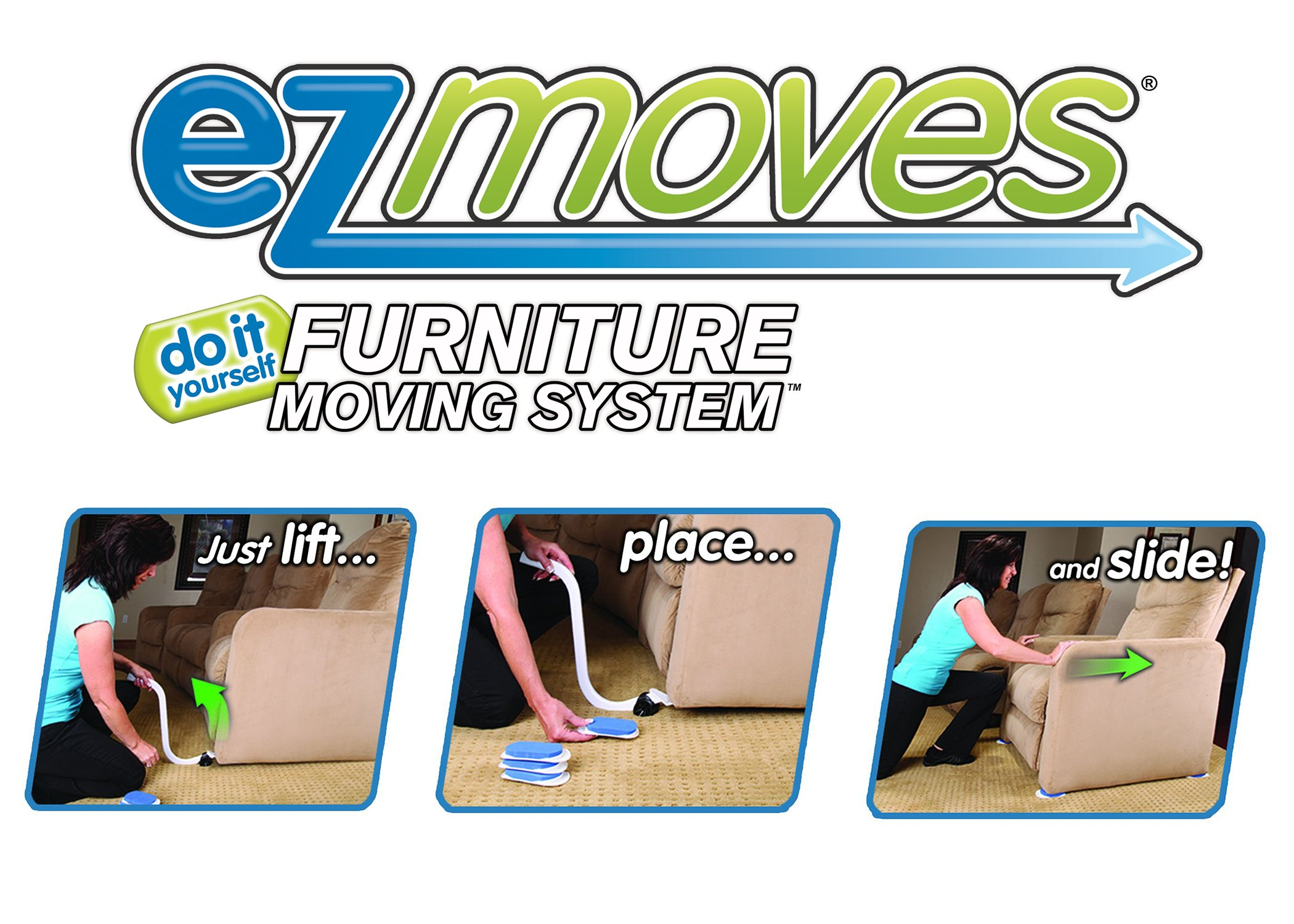 Ez Moves Furniture Moving Pads System 1 Lifter Tool 8 Sliders As Seen On Tv Ebay