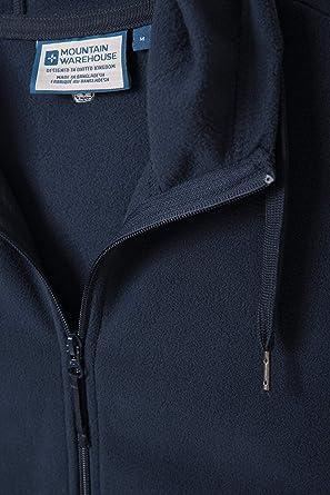Comodidad Adicional Capa del Verano de Breathable Hoody Ligero Mountain Warehouse Camber Mens Hoodie Antipill r/ápida seq/úese Chaqueta Suave del Tacto