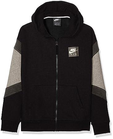Nike Jungen Sportkapuzenpullover B Nk Air Hoodie Fz, Schwarz Carbon  Heather Anthracite Black 965c99949c