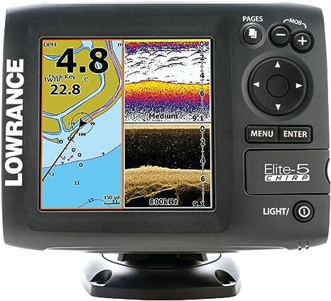 Lowrance Navigationsgerät Elite 5 Chirp Blank W/XD 83/200 455/800 - GPS Marino, Talla Standard: Amazon.es: Electrónica
