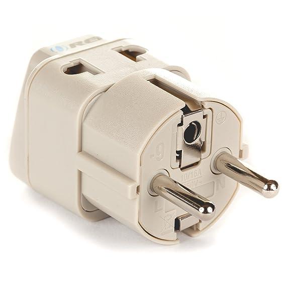 Amazon.com: OREI European Plug Adapter Schuko Type E/F for Germany ...