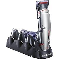 BaByliss MULTIGROOM X10 - Cortapelos para cara, cabello y cuerpo, con cuchillas profesionales W-tech y 10 accesorios