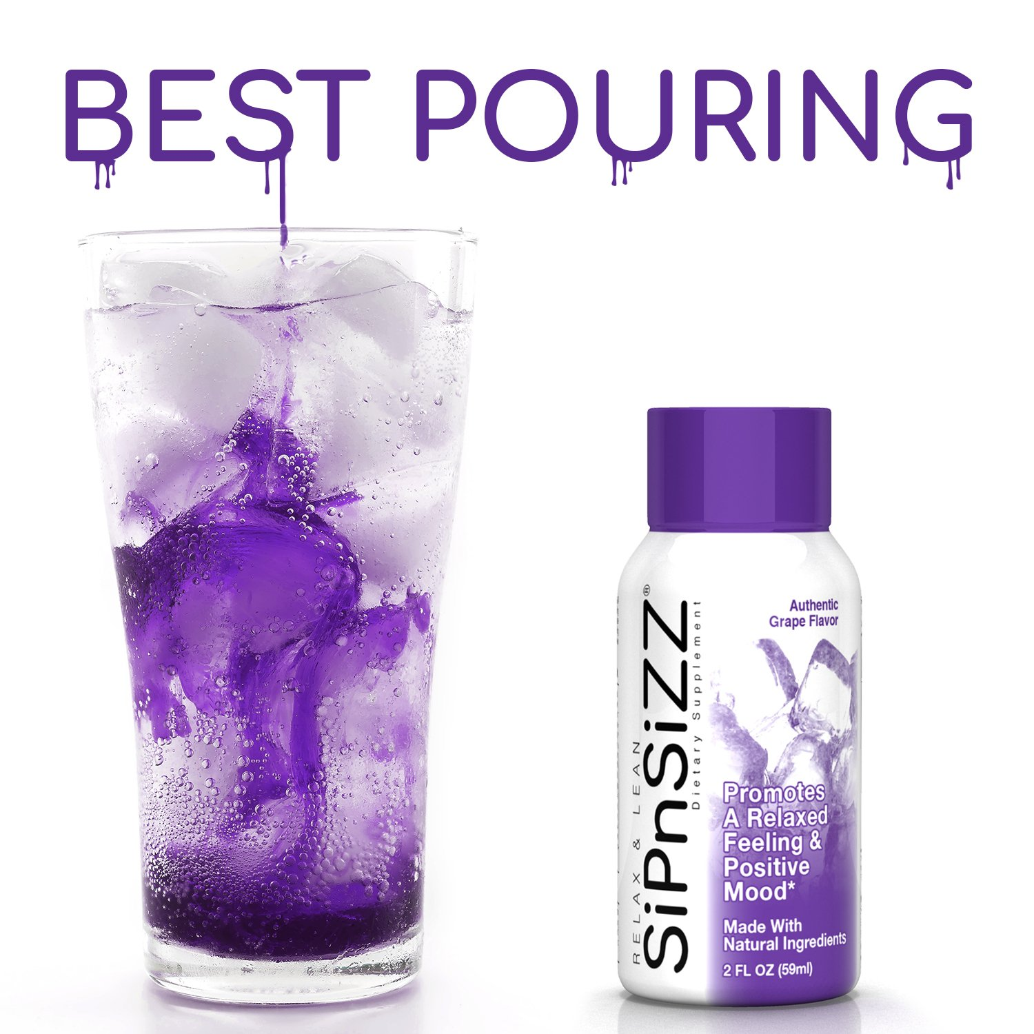 3b03c05bca5892 Amazon.com   SiPnSiZZ - Extreme Relaxation Syrup (2oz) - Creates a  Delicious