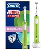 Oral-B Junior Elektrische Kinderzahnbürste, für Kinder ab 6 Jahren, grün