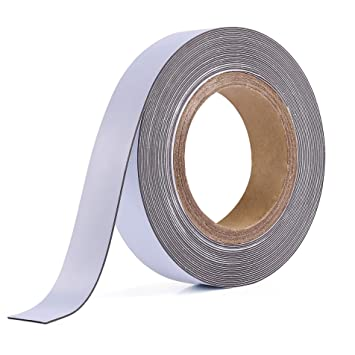 SELF ADHESIVE MAGNETIC TAPE STRIP FLEXIBLE FRIDGE//CRAFT 5m x 12mm *VERY STRONG*