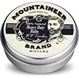 Heavy-Duty Beard Balm by Mountaineer Brand (2 oz) | Beard Tamer and Leave-in Conditioner | WV Timber Scent