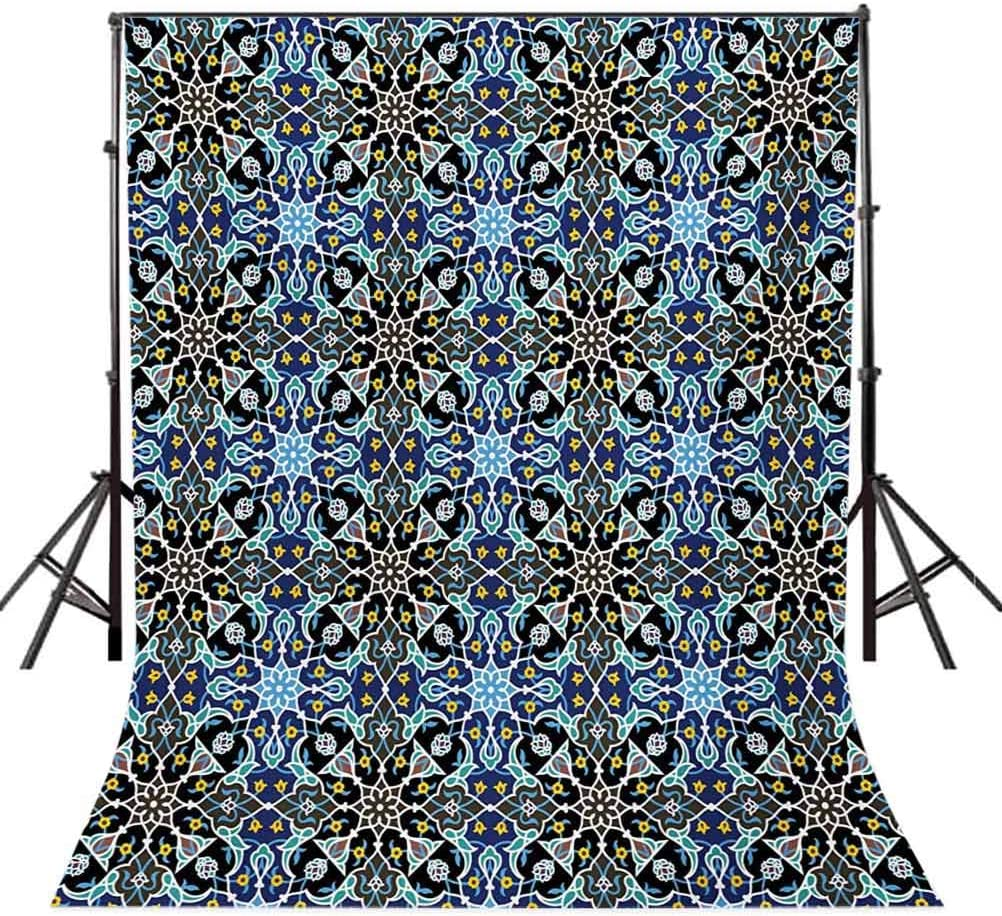 10x15 FT Backdrop Photographers,Bohemian Arabic Pattern with Interlacing Lines Historical Roman Influences Background for Baby Shower Birthday Wedding Bridal Shower Party Decoration Photo Studio