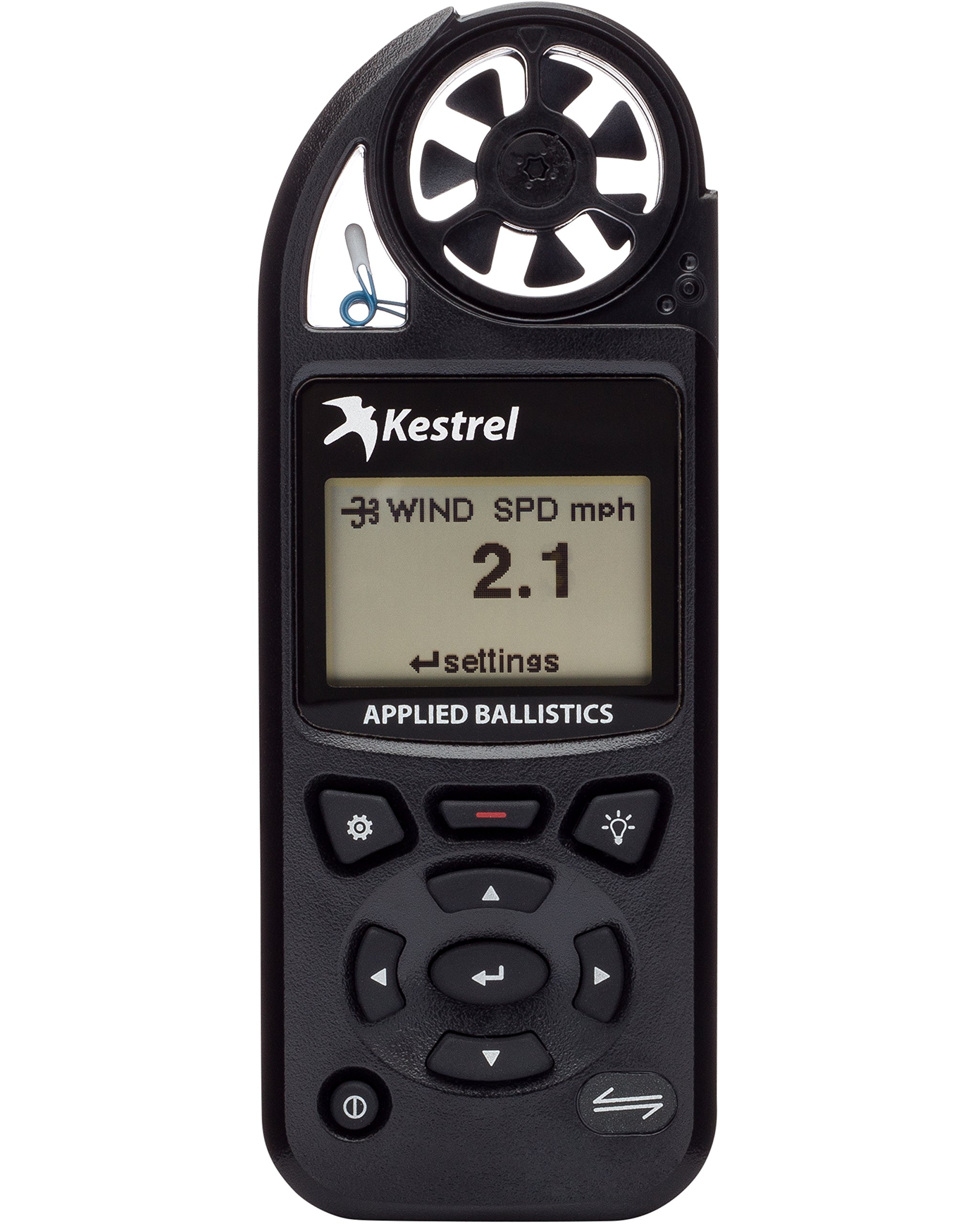 Kestrel 5700 Elite Weather Meter with Applied Ballistics, Black