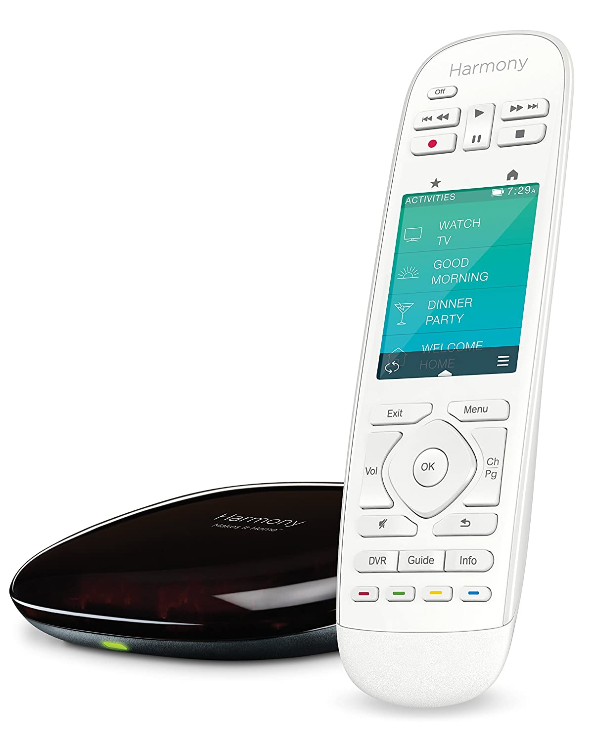 Logitech Harmony Ultimate Home Touch Screen Programmable Remote for 15 Home Entertainment and Automation Devices (White)