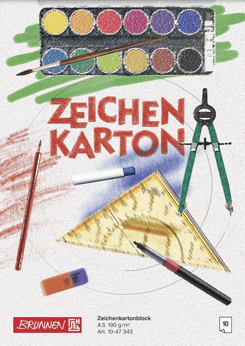 Baier schneider bloc &zeichenkartonblock 210 x 297 mm a4 190 g/m ²-motif imprimé fontaine