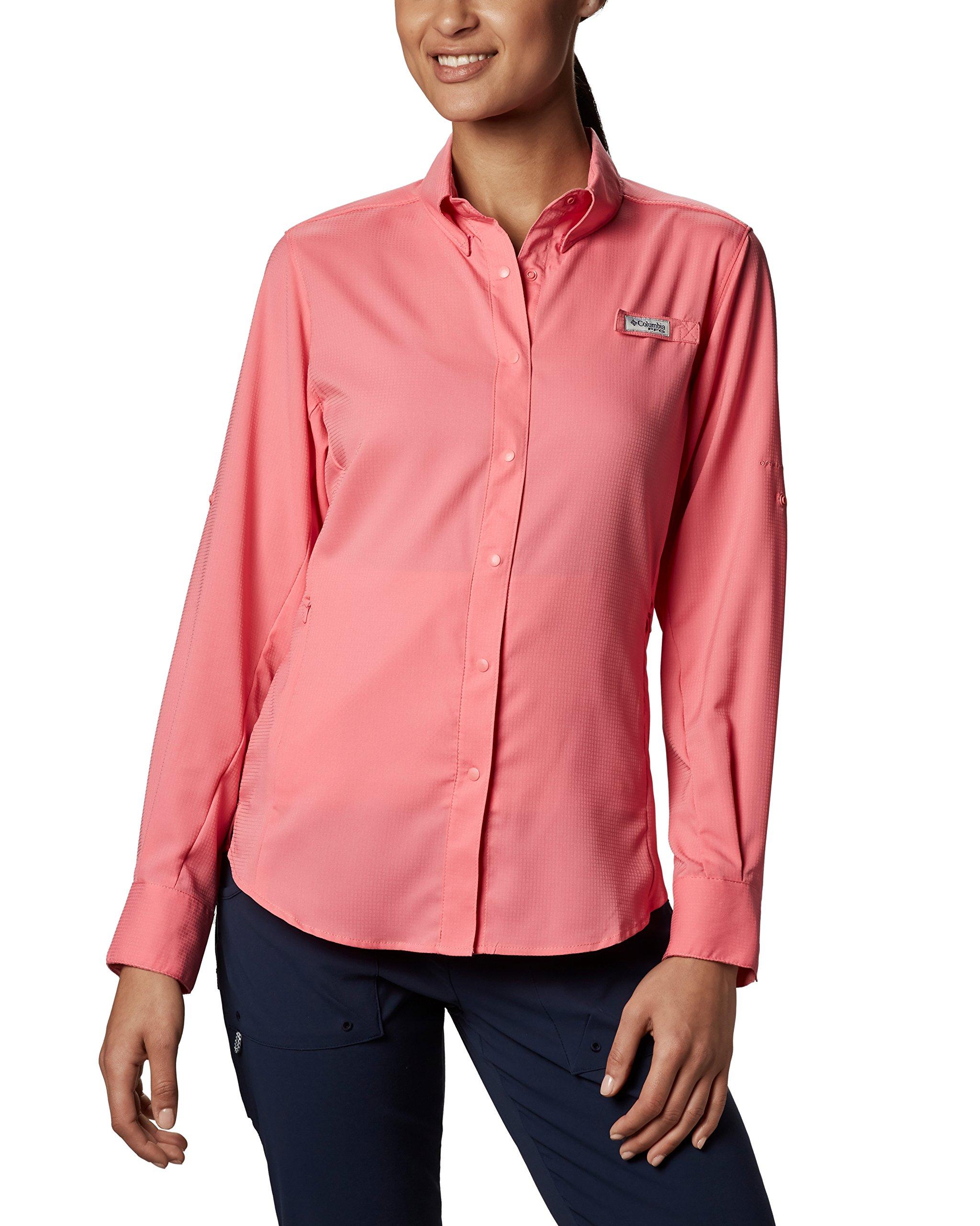Columbia Sportswear Womens Tamiami Ii ls shirt, Lollipop, X-Small