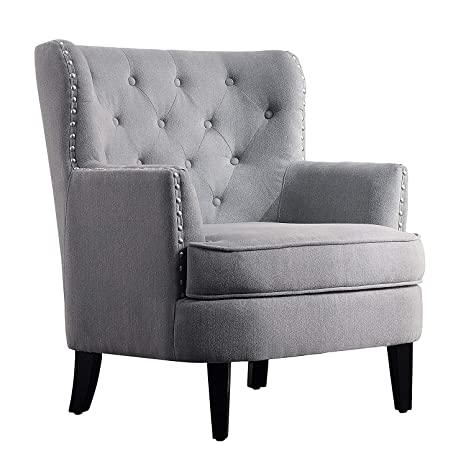 Amazon.com: chrisanna WINGBACK Club silla, sillas de Accent ...