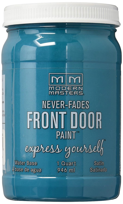 Pretty teal front door paint Modern Masters front door paint