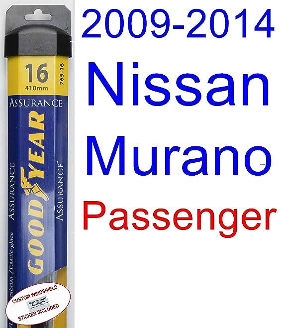 Amazon.com: 2009-2014 Nissan Murano Wiper Blade (Rear) (Goodyear Wiper Blades-Assurance) (2010,2011,2012,2013): Automotive