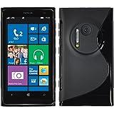 PhoneNatic Custodia Nokia Lumia 1020 Cover nero S-Style Lumia 1020 in silicone + pellicola protettiva