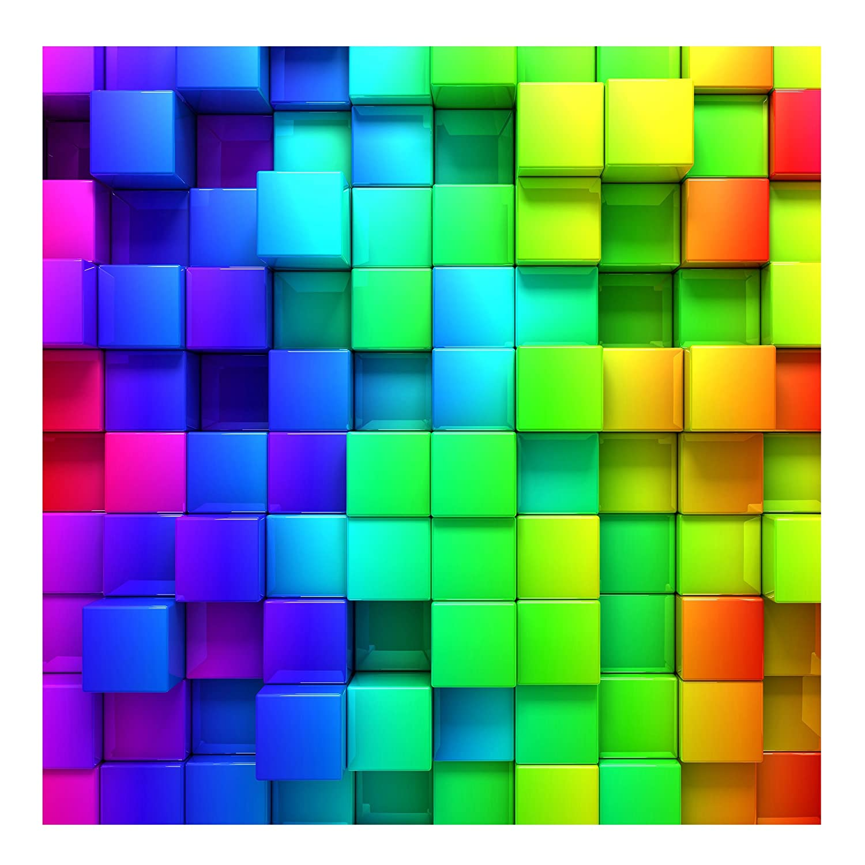 Bilderwelten Vliestapete 3D Optik Tapete - 3D Würfel - 3D Fototapete Quadrat Vlies Tapete Wandtapete Wandbild Foto 3D Fototapete, Größe HxB: 288cm x 288cm