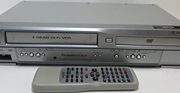 Sanyo dvw-7200 DVD/VCR combo grabadora de video, 4-Head Hi-Fi reproductor de grabadora de vídeo estéreo Video casete vhs W/DOLBY DIGITAL, barrido progresivo ...